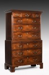 George III Mahogany Tallboy Chest