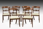 Set Six Regency Dining Chairs