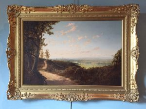 """""""A Berkshire Road with a View of Windsor Castle by Edward Henry Niemann"""