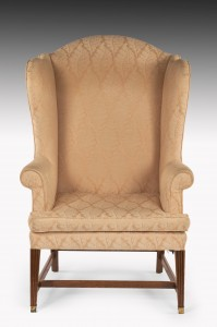 Antique George III Wing Armchair