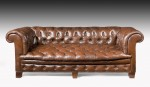 Leather Chesterfield Sofa Settee image 1