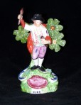 Staffordshire pottery figure by SALT